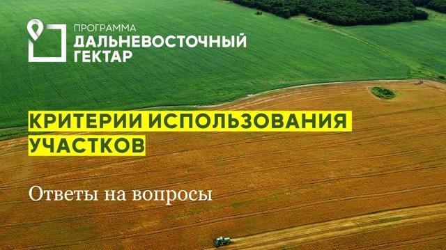 Продать дальневосточный гектар можно будет через 4,5 года освоения