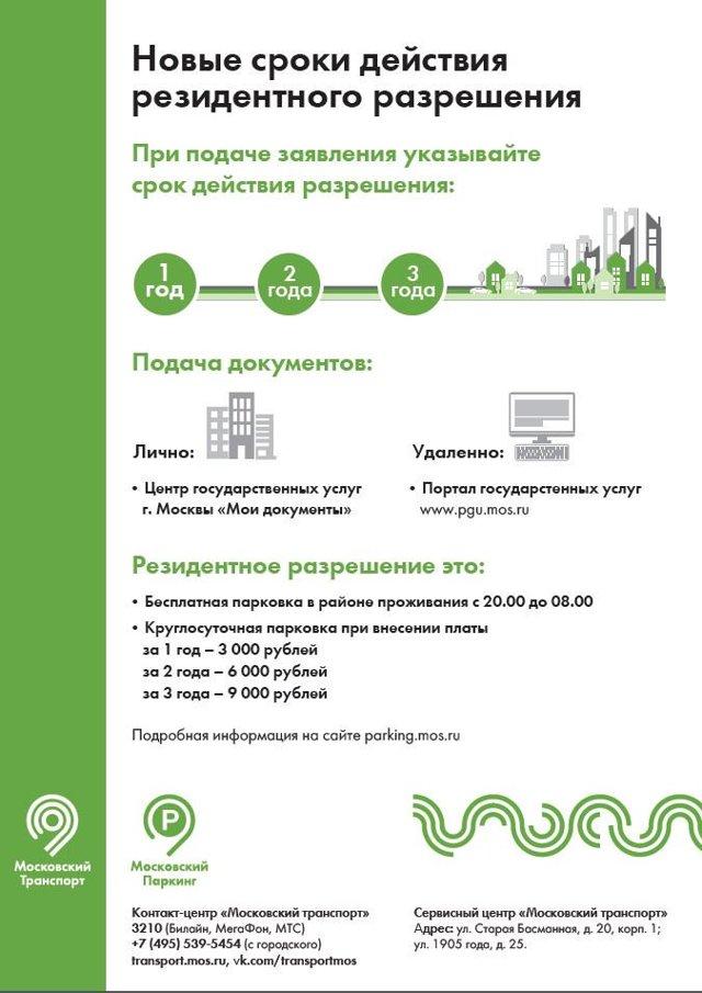 Власти Москвы борются с продажей резидентских разрешений на бесплатную парковку